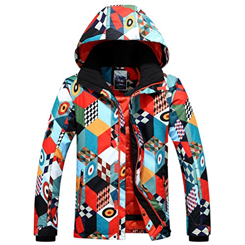 APTRO Men's Bright Colored Insulated Waterproof Windproof Ski & Snowboard Jacket