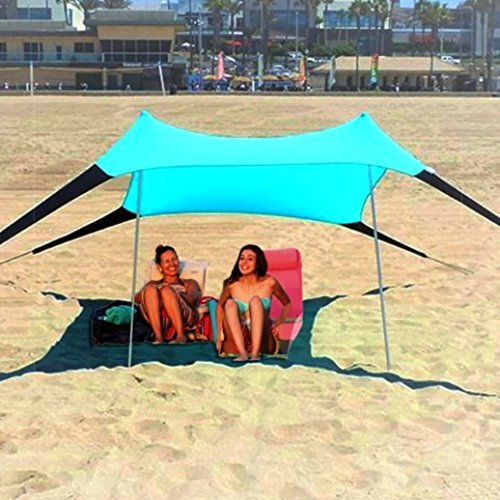 Sol ShadeTM Portable Easy Pop Up Beach Stretch Fabric Sun Shade Tent Canopy