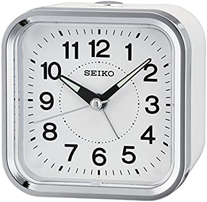 Seiko Despertador analógico Unisex Color Blanco qhe130W