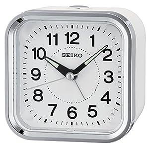 Seiko Despertador analógico Unisex Color Blanco qhe130W 1