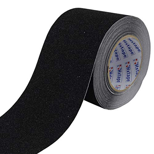 Hxtape Black Anti-Slip Traction Safety Tape,Multi Size Choices, Grip Tape, Non Slip Pad Walk Track Tread,Use on Walkways, Stairs, Tread Step, Ramps and Decks (4