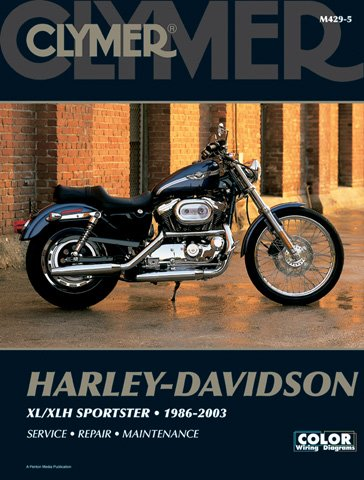1986-2003 Harley Davidson Sportster Evolution CLYMER MANUAL HD SPORTSTER EVOLUTION 86-03, Manufacturer: CLYMER, Manufacturer Part Number: M4295-AD, Stock Photo - Actual parts may vary. by Clymer