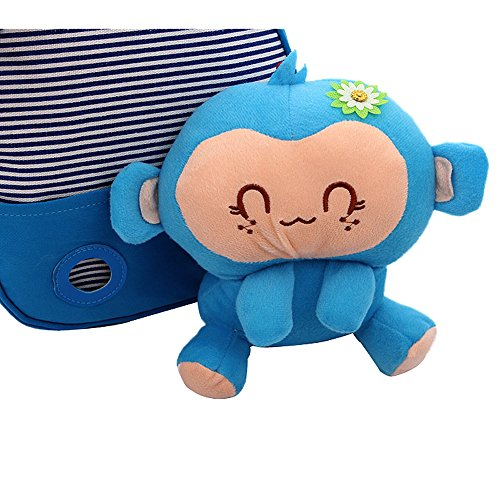 5 for Years Baby Boys Monkey Gift Best Daily Use Rose Toddler Lovely Blue Comfysail Old 1 Kids Girls 3D Detachable Canvas Backpack aw7xZSPnz