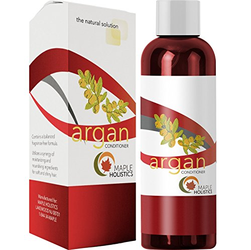 100% Pure Moroccan Argan Oil Hair Conditioner for Dry Damaged Frizzy Smoothing Hair Care All Natural Sulfate Free Silicone Free Hypoallergenic Color Safe Ingredients for Sensitive Skin