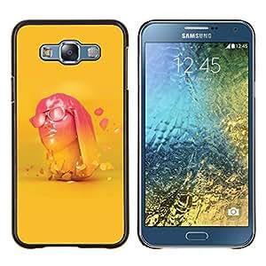 EJOOY---Cubierta de la caja de protección para la piel dura ** Samsung Galaxy E7 E700 ** --Neon Pink Head