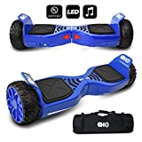 CHO[TM All Terrain Rugged 6.5 Inch Wheels Hoverboard Off-Road Smart Self Balancing Electric Scooter with Built-in Speaker LED Lights...