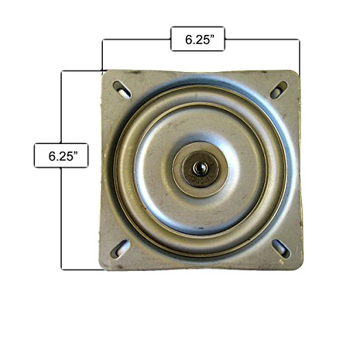 Bar Stool Replacement Flat Swivel Plate 6.25″ – Made in USA Review