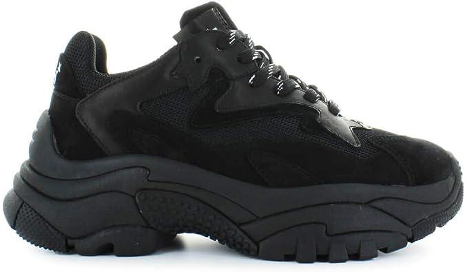 Ash Chaussures Femme Baskets Addict All Black Automne Hiver