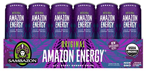 Sambazon Amazon Energy Drink, Original Acai Berry, 12 Ounce (Pack of 24)