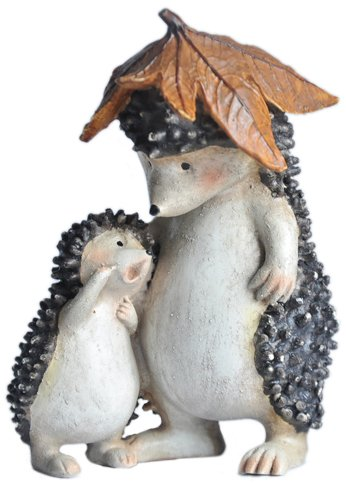 Top Collection Enchanted Story Fairy Garden Hedgehog with Ba