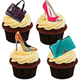 Designer Handbags and Shoes, Edible Cupcake Toppers - Stand-up Wafer Cake Decorations by Made4You