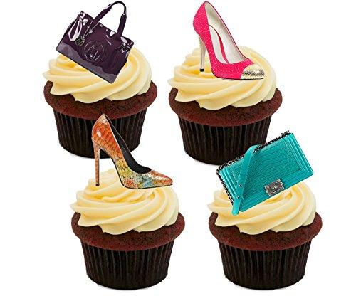 Pack Créateur Gâteaux À Comestibles Papier Sac Design Mettre De Décorations Of Et 24 Cupcakes Des Pour Main Dessus Sur Le Chaussures En Gaufrette RTwqv