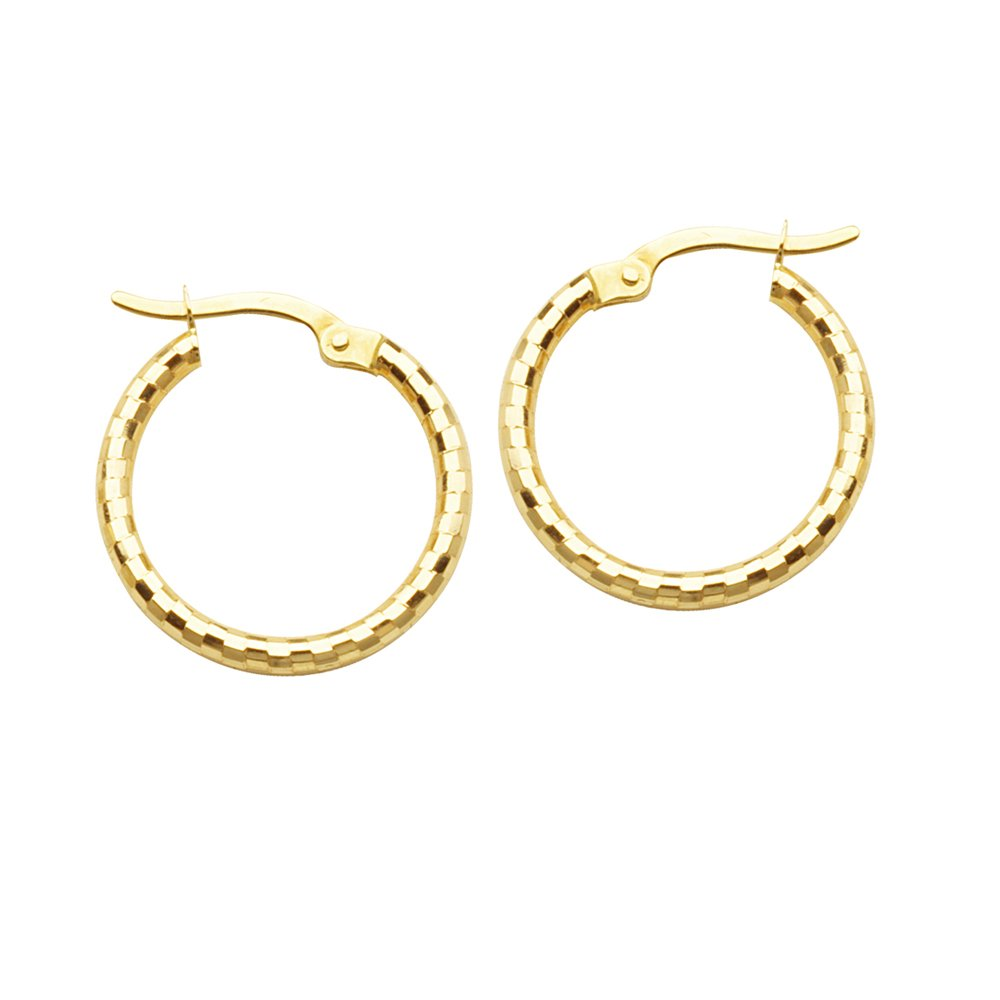 10Kt Gold Designer Hoops Hoop Earrings