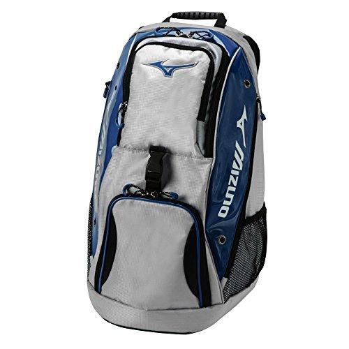 Mizuno Tornado Backpack Volleyball Equipment Bag - Grey & Navy by Mizuno