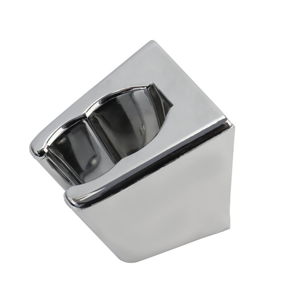 TOOGOO R Tono plateado de plastico soporte para alcachofa de ducha de bano soporte para alcachofa de ducha