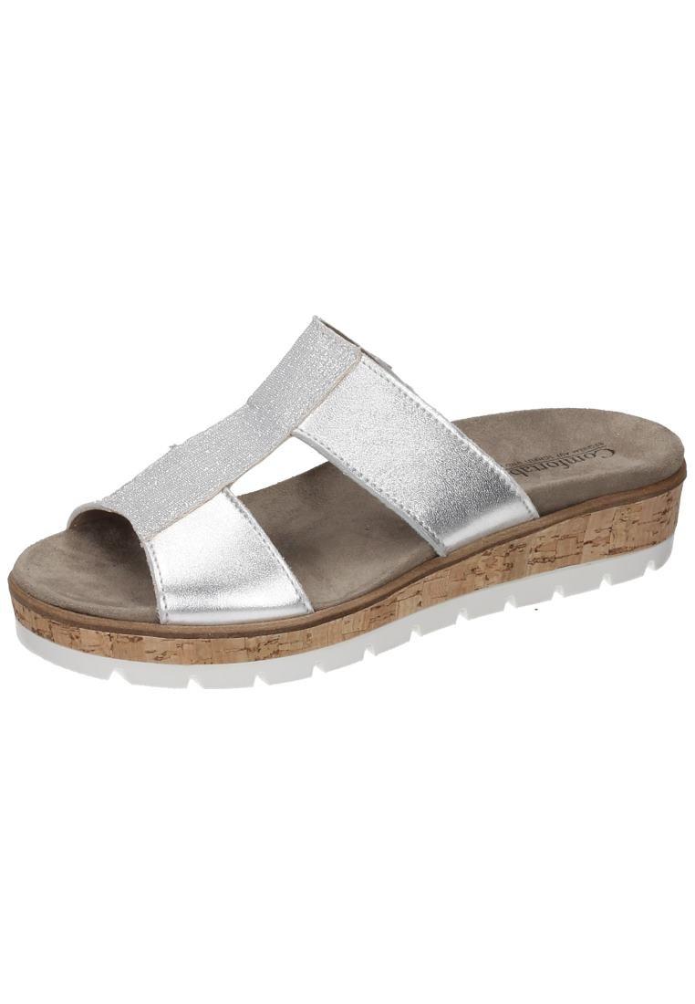 Comfortabel Damen-Pantolette Silber 701194-92 39 EU|Silber En línea Obtenga la mejor oferta barata de descuento más grande
