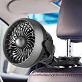 LEMOISTAR USB Desk Fan, 4 inches Rechargeable Battery Operated Small Table Fan, 4 Speed, 360° Rotating Free Adjustment Personal Fan for Home, Office Desktop and Dorm ...