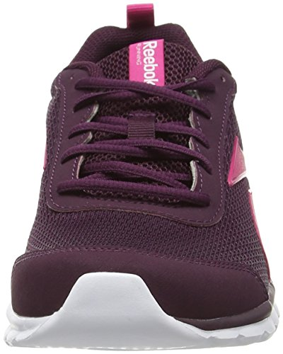 Running Multicolore Femme Chaussures white De Sublite Reebok Entrainement maroon Sport nxqIf40O
