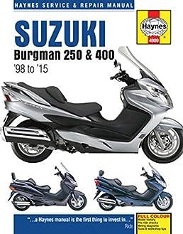 suzuki burgman 250 400 98 to 15 haynes service repair manual rh amazon com 1994 Suzuki Schematics Suzuki Electrical Schematics