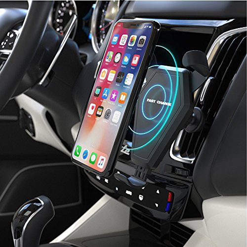 Fast Wireless Charger,MEIWU Car Mount Air Vent Phone Holder Cradle for Samsung Galaxy Note 7/6/S8/S8 plus/S7/S6 Edge plus,QI Wireless Standard Charge for iPhone 8/8 plus/X etc. by MEIWU (Image #5)