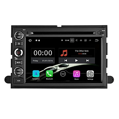 YINUO Quad Core 16GB 7 Inch Android 7.1 Double Din Car Stereo DVD Player In Dash GPS Navigation for Ford F150 2004-2008/Fusion 2006-2009/Explorer 2006-2009/Edge 2007-2009/Expedition 2007-2009