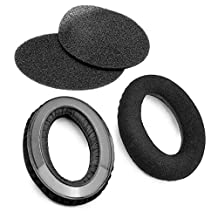 Nbbox Replacement Inside Tone Tuning Foam and Velvet Earpad for Sennheiser HD545 HD565 HD580 HD600 HD650 Headphone