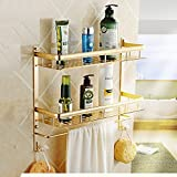 DIDIDD Shelf-Bathroom Space Aluminum Toilet Shelves Wall Hanging 2 Floor Toilet Wash Rack,60Cm
