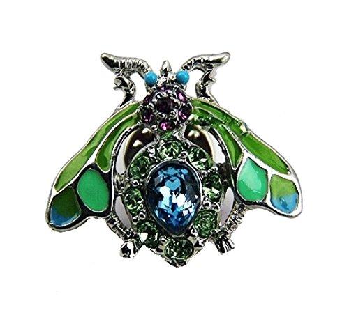 Jay Strongwater Adorable Wasp Tack Pin Swarovski Crystals Brand New, Box
