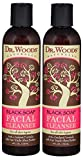 Dr. Woods Black Soap Liquid Facial Cleanser with Organic Shea Butter, 8 Ounce
