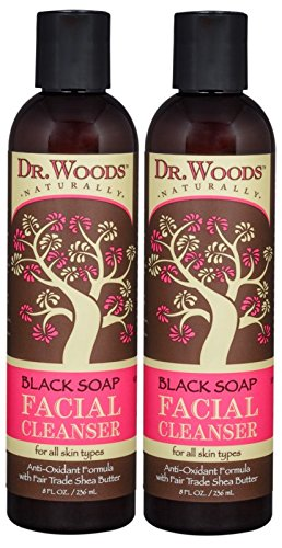 Dr. Woods Black Soap Liquid Facial Cleanser with Organic Shea Butter, 8 Ounce (Pack of 2) (Dr Woods Black Soap With Organic Shea Butter)