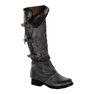 Angkorly Couverte Motard Mode Chaussure Cavalier Cuissarde Botte qwYHxIgrq