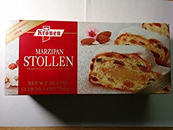 Kronen Marzipan Stollen Traditional German Fruit Cake 26 4oz