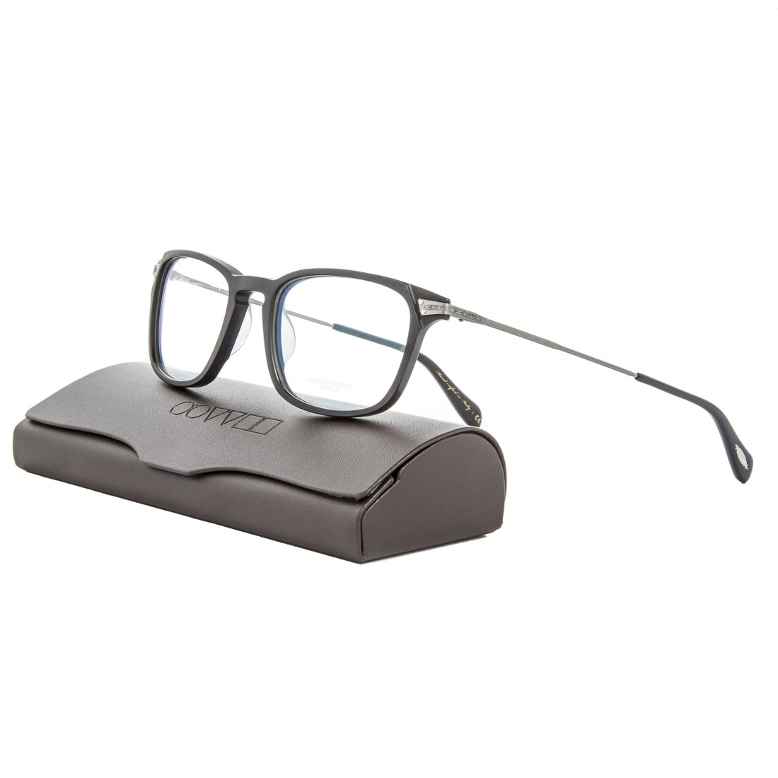 1beeda16adc Amazon.com  Oliver Peoples OV5278U Harwell Eyeglasses 1465 Semi Matte Black  Pewter   RX Demo  Clothing