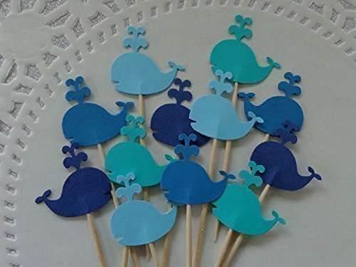 Whale Cupcake Toppers - NEW Larger Size 1.5