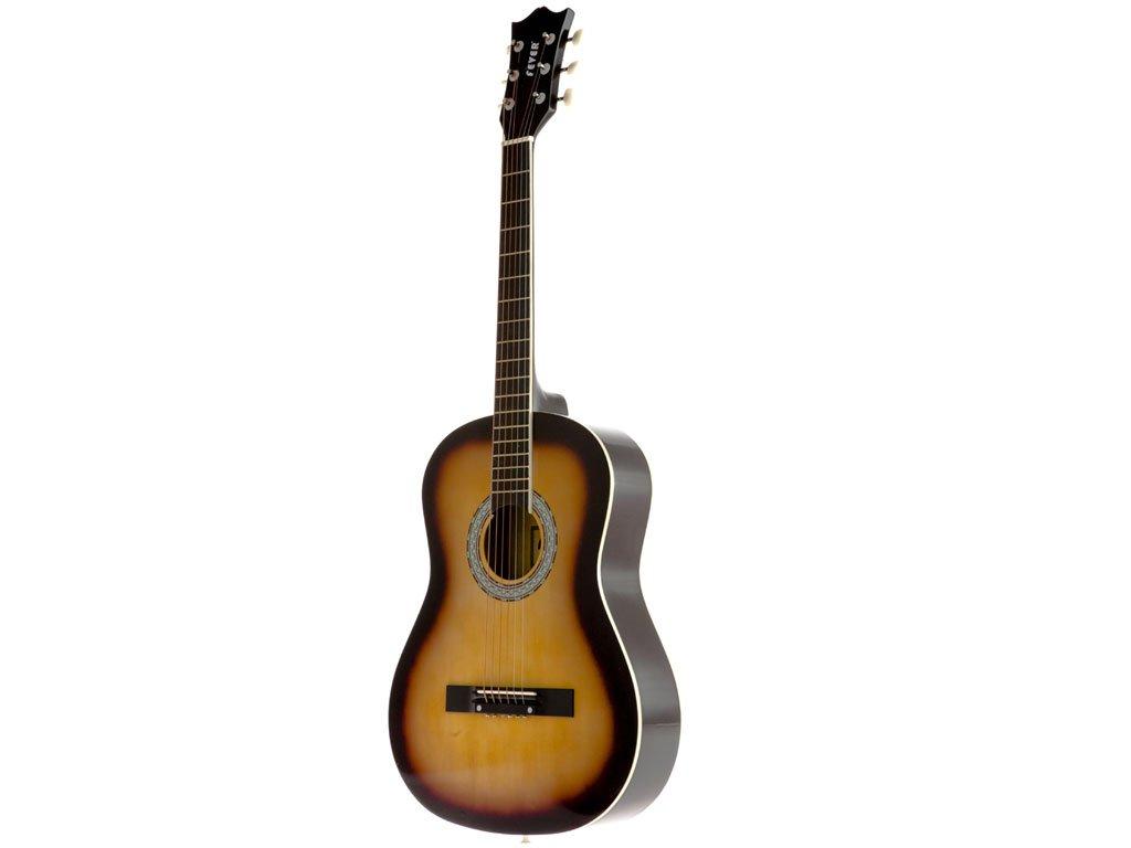 Fever FV-030-SB 3/4 38-Inch Acoustic Guitar, Sunburst
