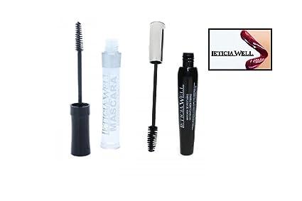 Lot 2 Mascara Transparente & Extra Volume negro – Leticia Well