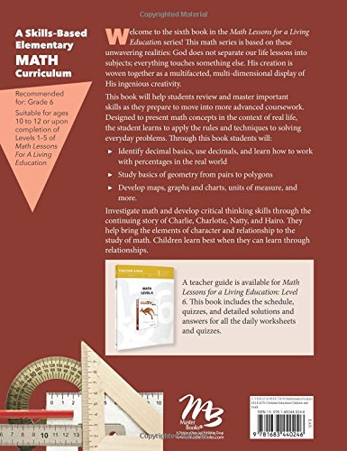 Math Lessons for a Living Education, Level 6: Angela O'dell ...