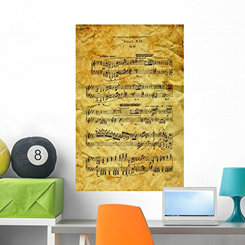 Wallmonkeys Ludwig Van Beethoven Sonata Wall Mural Peel and Stick Graphic (36 in H x 23 in W) WM205384