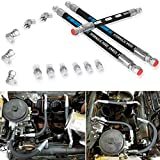 High Pressure Oil Pump HPOP Hoses Lines Kit & Crossover Line for 1999-2003 Ford 7.3L Powerstroke