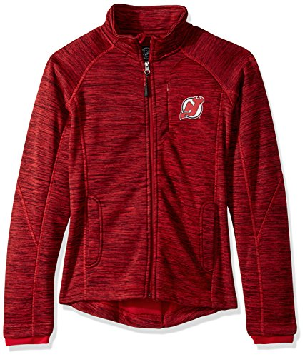 GIII For Her NHL New Jersey Devils Women's Hand Off Full Zip Jacket, XX-Large, Red
