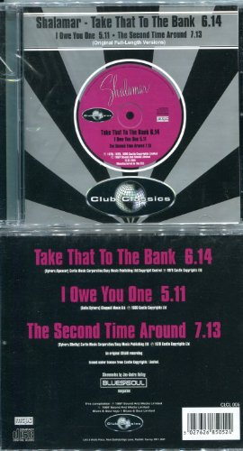 "Price comparison product image Shalamar-""Take That to the Bank"" (6.14), ""I Owe You One"" (5.11), ""The Second Time Around"" (7.13) CD Single"