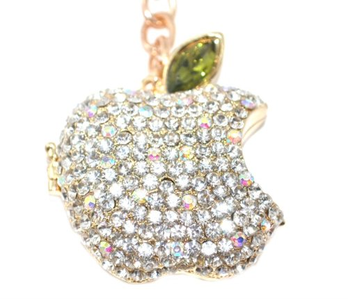 Lilly Rocket Big Apple Key Chain with Swarovski Crystal (Keychain Swarovski Ring Crystal Key)