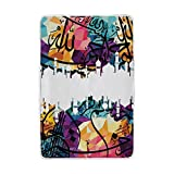 U LIFE Vintage Abstract Turkish Floral Islamic Soft Fleece Throw Blanket Blankets for Nap Couch Sofa Bed Kids Men Women 60 x 90 inch