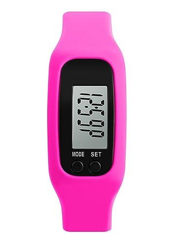 juvenil bobby rose reloj inteligente de la muchacha rosada reloj digital llevado la moda multifunción deportivo para damas: Amazon.es: Relojes