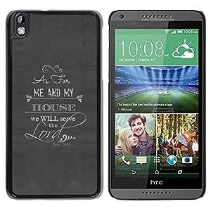 Design for Girls Plastic Cover Case FOR HTC DESIRE 816 Lord Serve The Christian God Religion OBBA