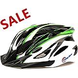 Ultralight Stable Road/Mountain Mens/Womens Bike Helmet-green+black+white