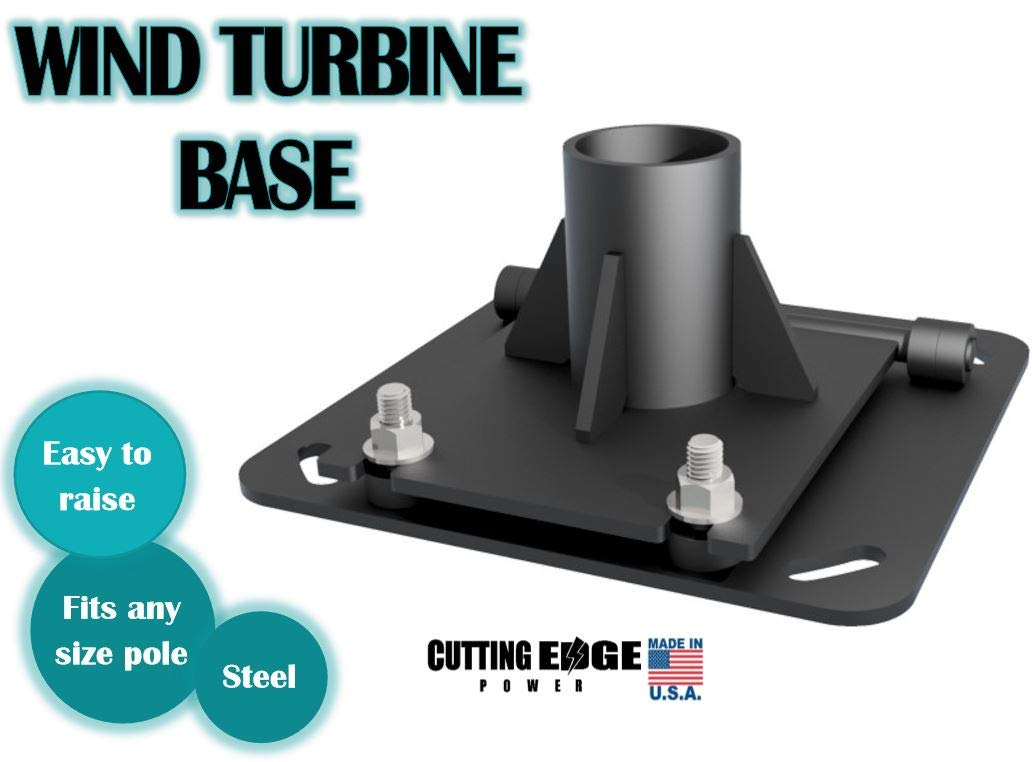 Cutting Edge Power Easy to Raise Steel Wind Turbine Base Stand Mount for Any Pipe Size, Made in USA. (Fits 2-1/2'' [ 2-7/8'' O.D. ] Pipe)