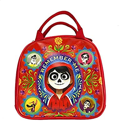 Disney Pixar CoCo Insulated Lunch Bag/Lunch Box w/Water Bottle (RED): Kitchen & Dining
