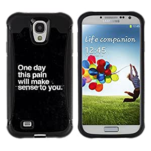 iKiki Tech / Estuche rígido - Pain Sadness Depression Get Well Black - Samsung Galaxy S4 I9500