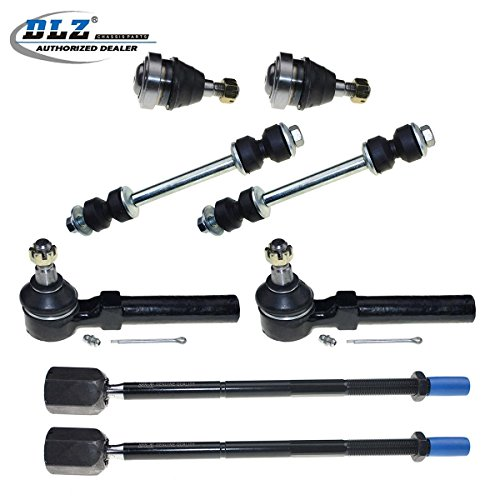 DLZ 8 Pcs Suspension Kit-Lower Ball Joint Inner Outer Tie Rod End Sway Bar End Link Kit Compatible with 1994 1995 1996 1997 1998 1999 2000 2001 2002 2003 2004 Ford Mustang K8749 ES3184RL K8848 EV127 ()
